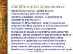 the drivers for e commerce