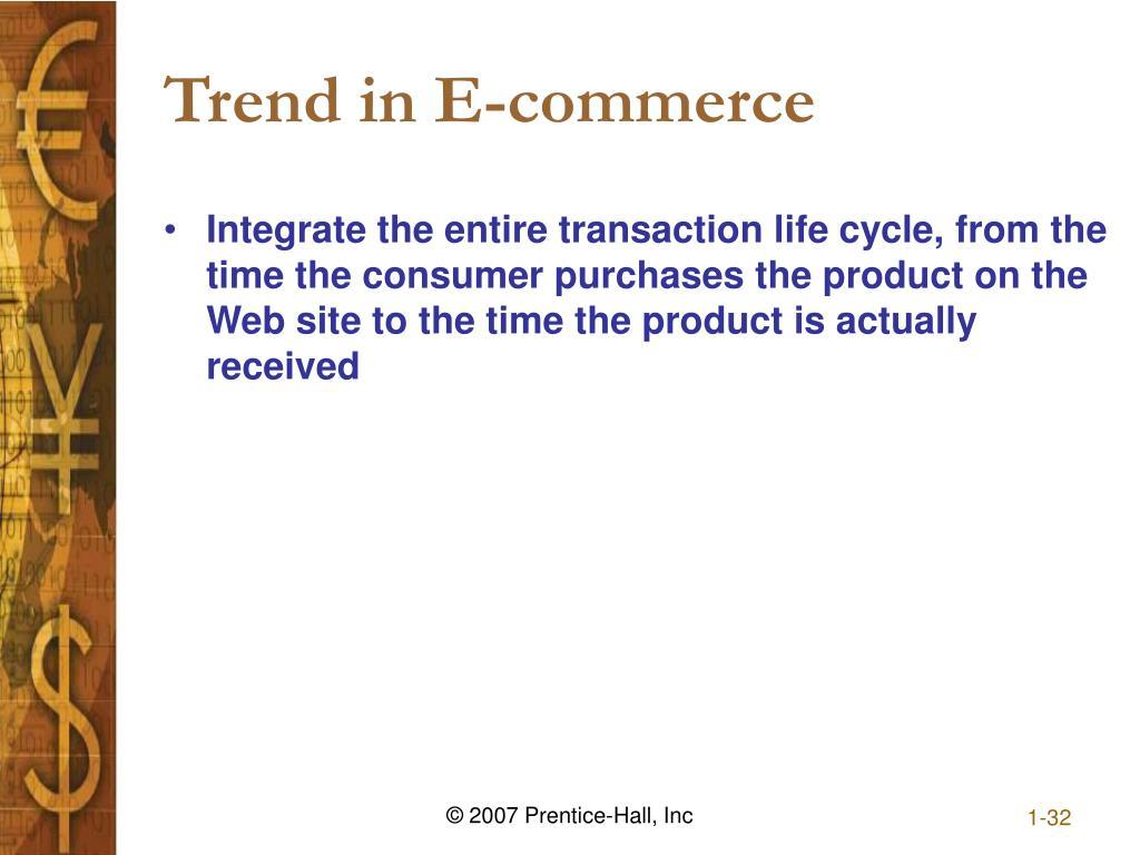 Trend in E-commerce