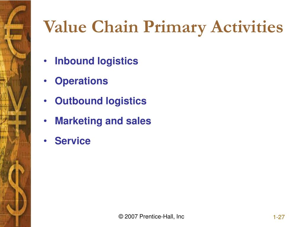 Value Chain Primary Activities