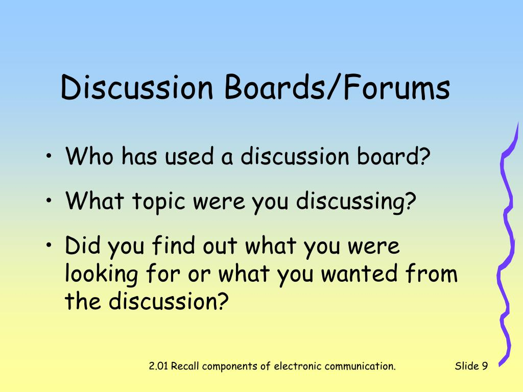 Discussion Boards/Forums