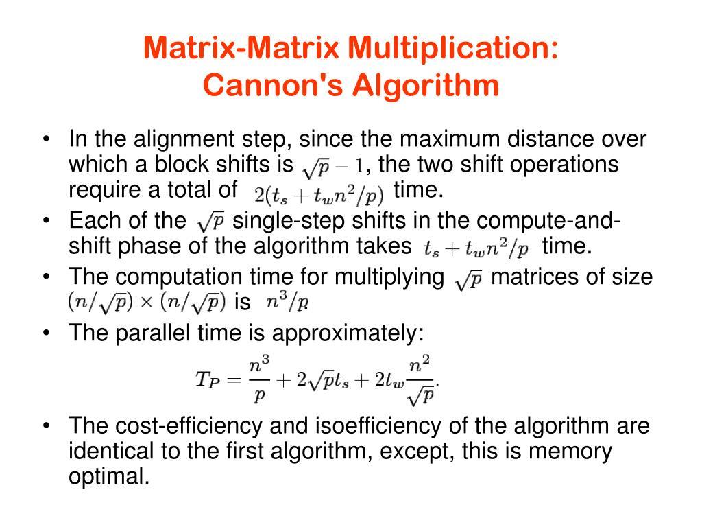 Matrix-Matrix Multiplication: