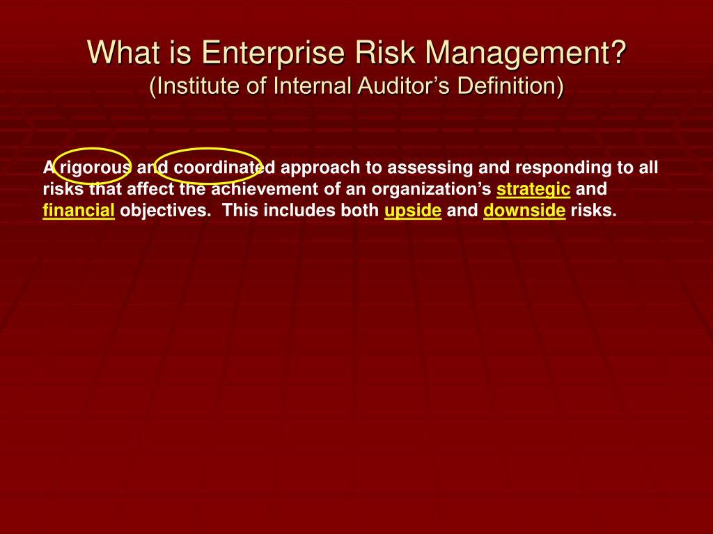 What is Enterprise Risk Management?