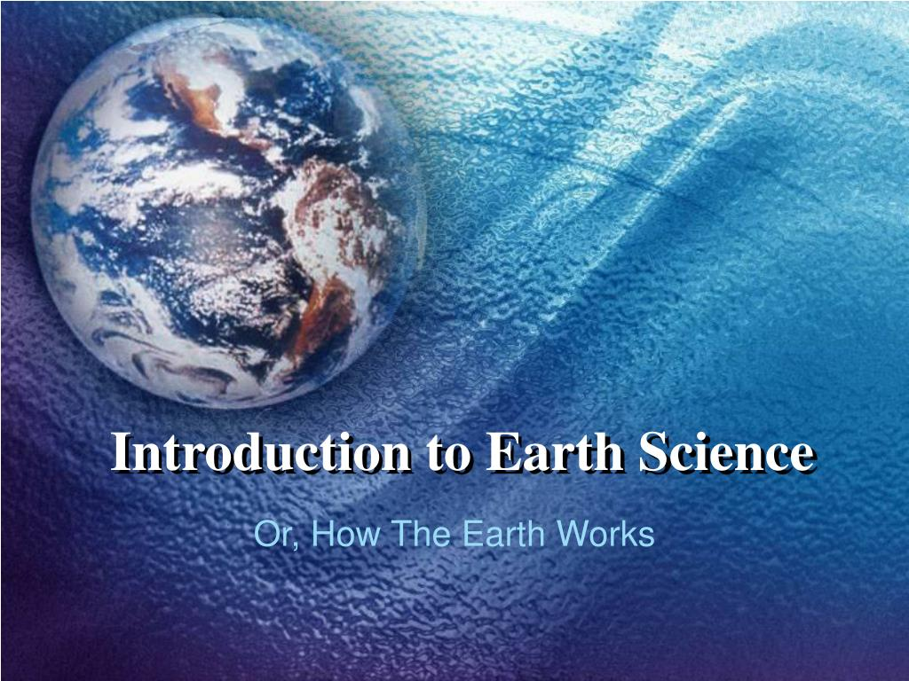 introduction earth science
