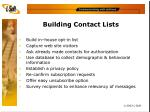 building contact lists