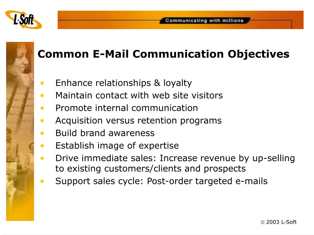 Common E-Mail Communication Objectives