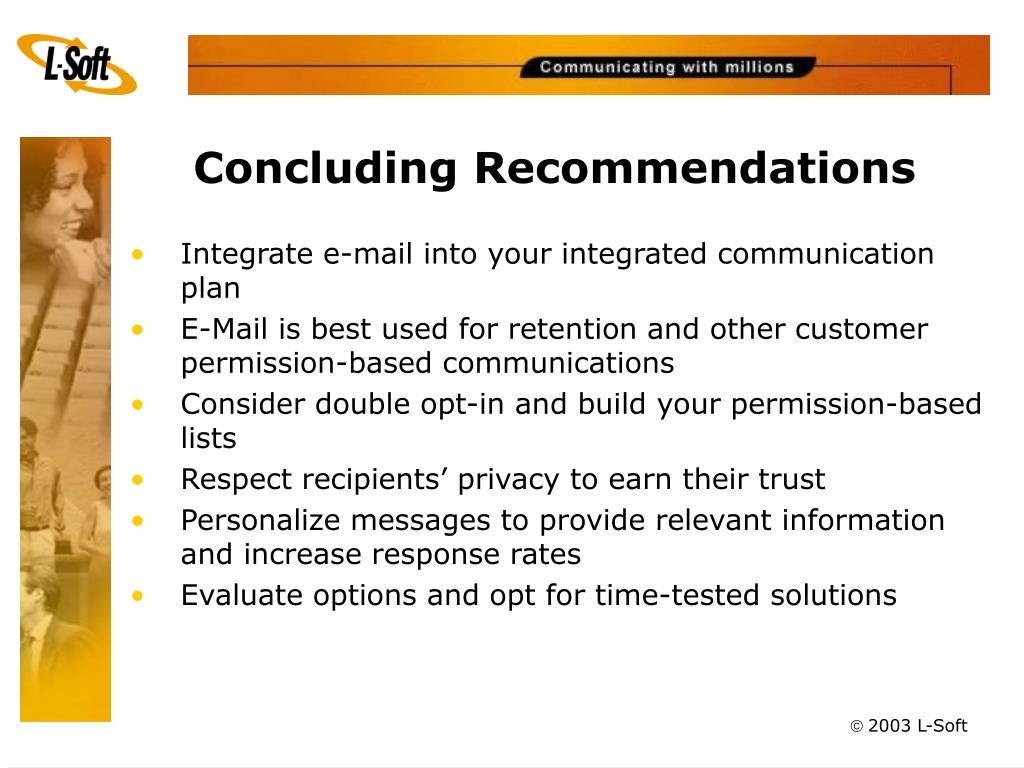 Concluding Recommendations