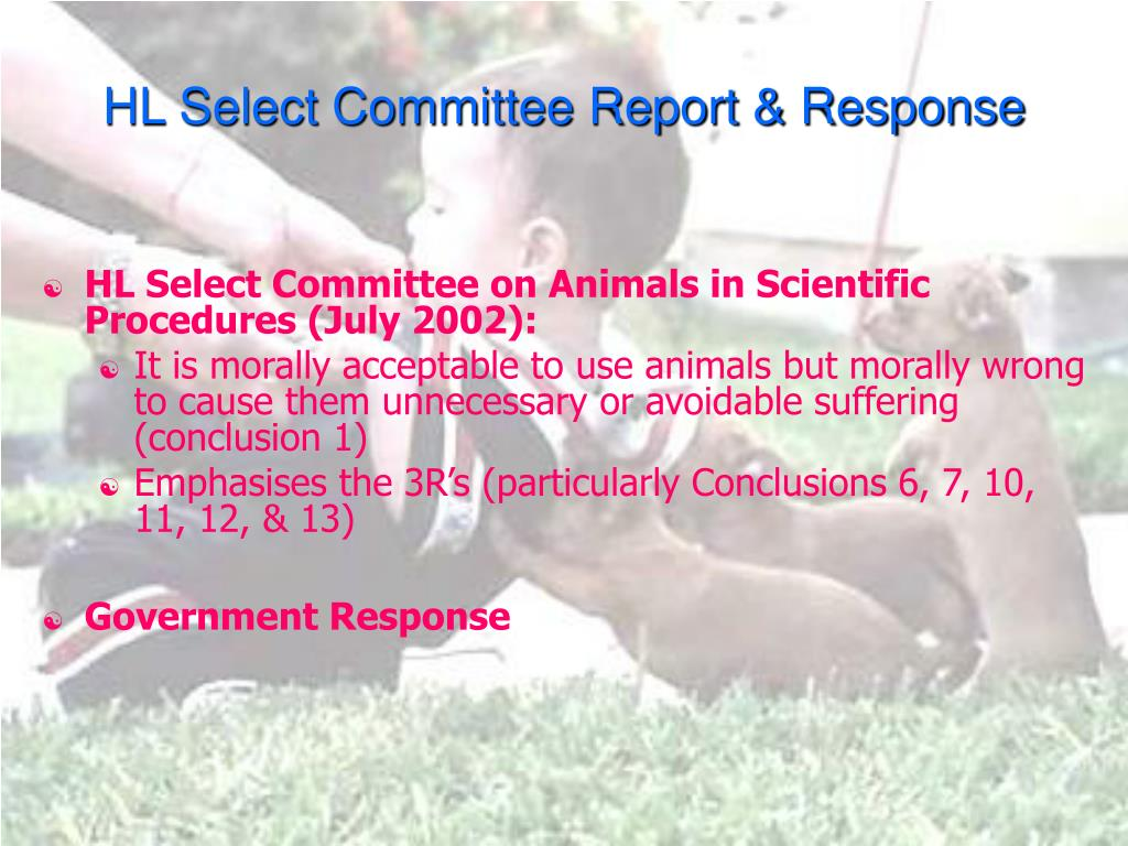 HL Select Committee Report & Response