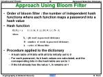 approach using bloom filter