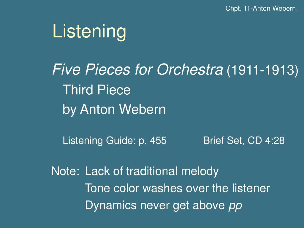 Chpt. 11-Anton Webern