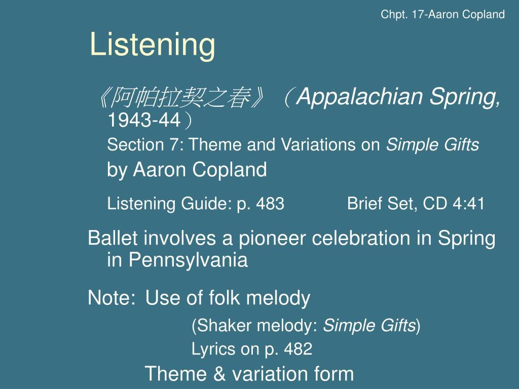 Chpt. 17-Aaron Copland