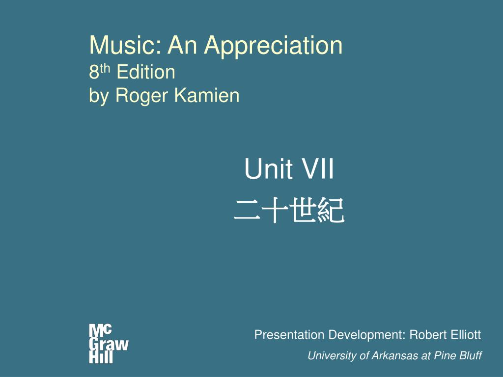music an appreciation 8 th edition by roger kamien l.