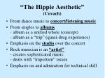 the hippie aesthetic covach