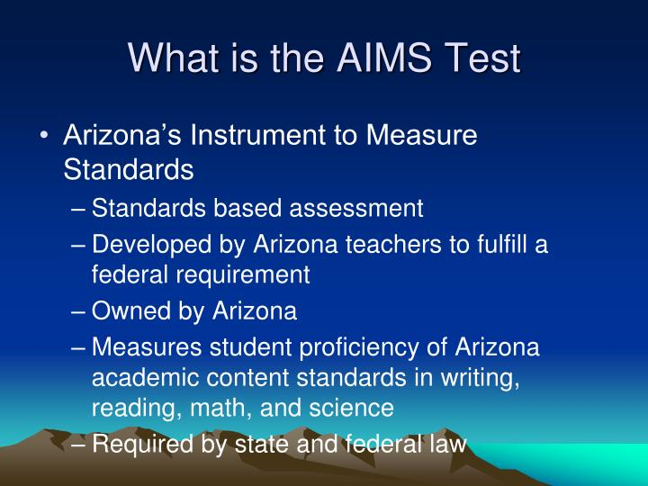 What is the aims test