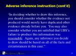 adverse inference instruction cont d