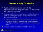 counsel s duty to monitor