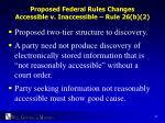 proposed federal rules changes accessible v inaccessible rule 26 b 2