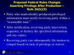 proposed federal rules changes asserting privilege after production rule 26 b 5