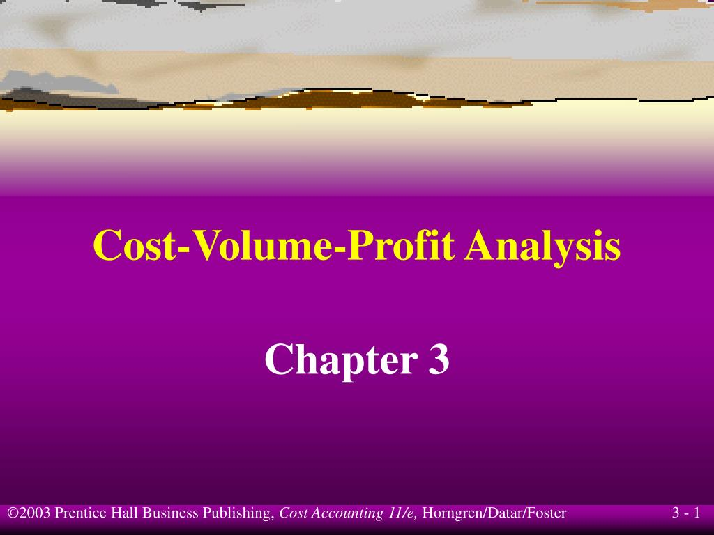 cost volume profit analysis l.