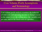 cost volume profit assumptions and terminology