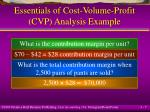 essentials of cost volume profit cvp analysis example7