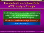 essentials of cost volume profit cvp analysis example8
