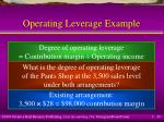 operating leverage example
