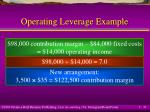 operating leverage example31