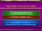 operating leverage example32