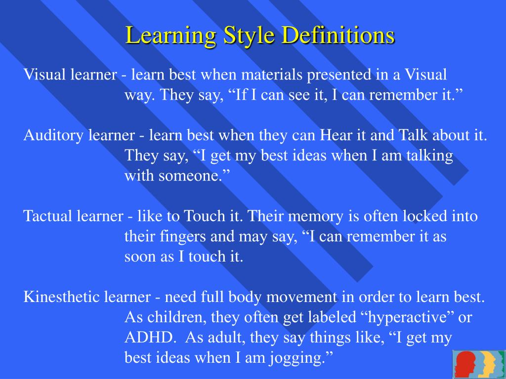 Learning Style Definitions