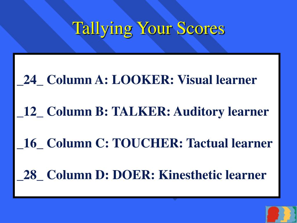 Tallying Your Scores