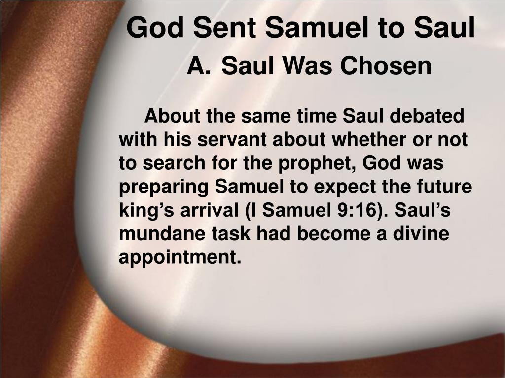 God Sent Samuel to Saul