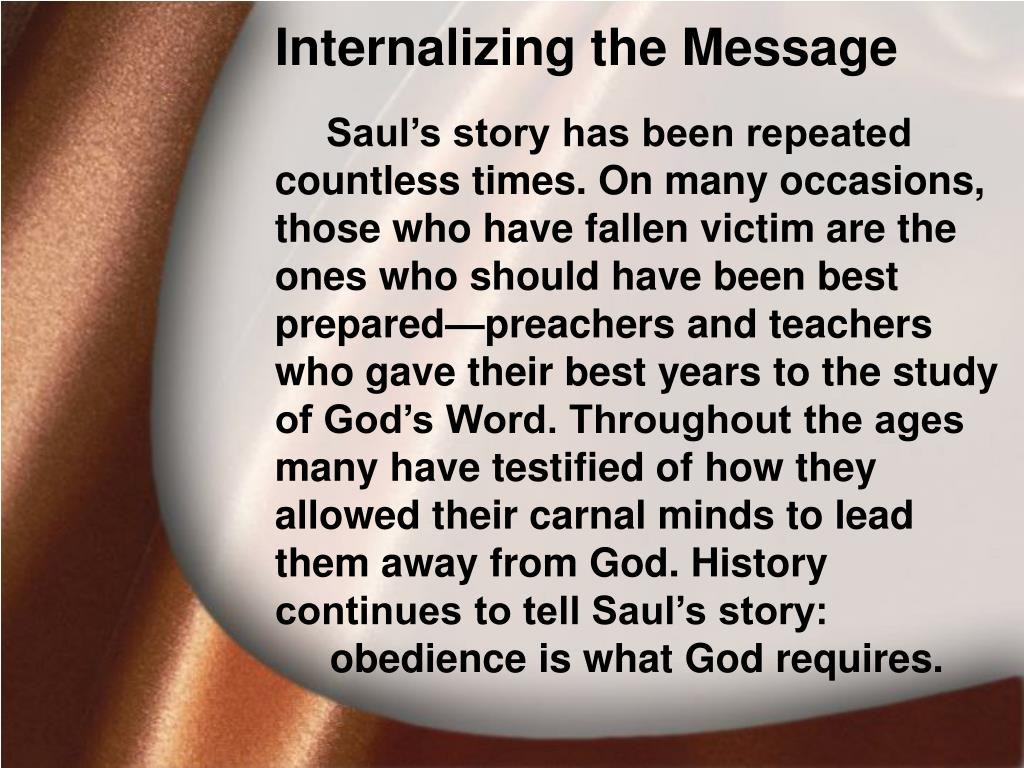 Internalizing the Message