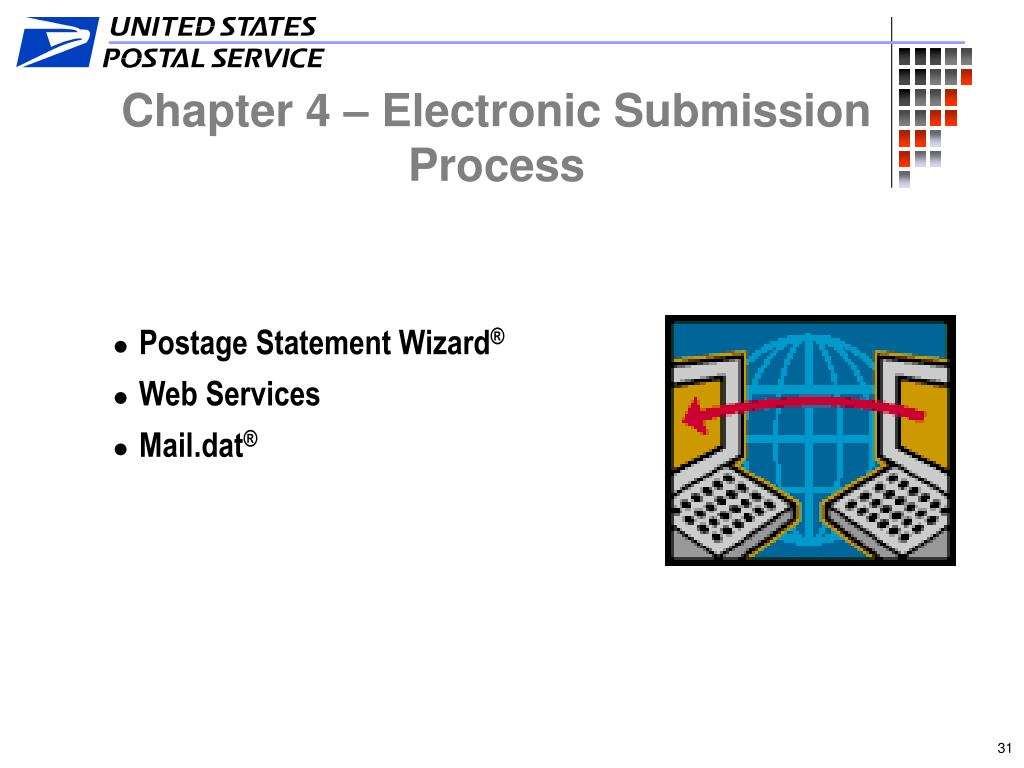 Chapter 4 – Electronic Submission Process