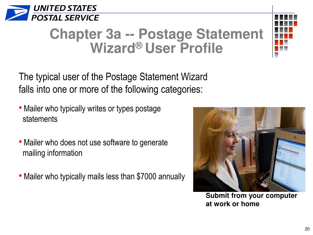 Chapter 3a -- Postage Statement Wizard