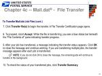 to transfer mail dat job files cont