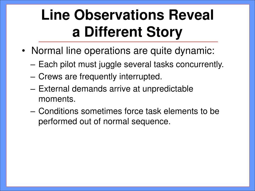 Line Observations Reveal