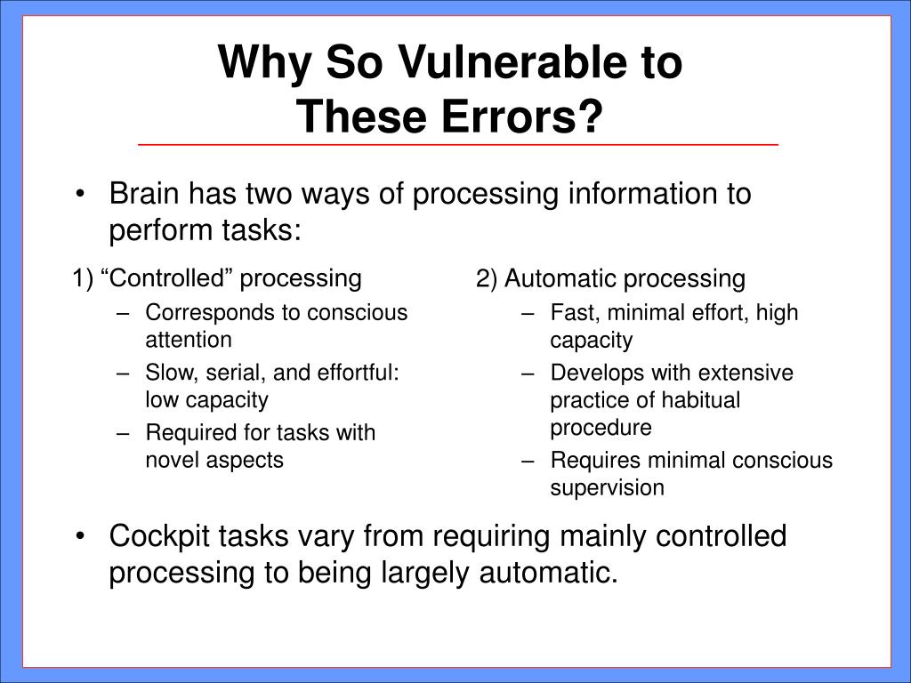 """1) """"Controlled"""" processing"""