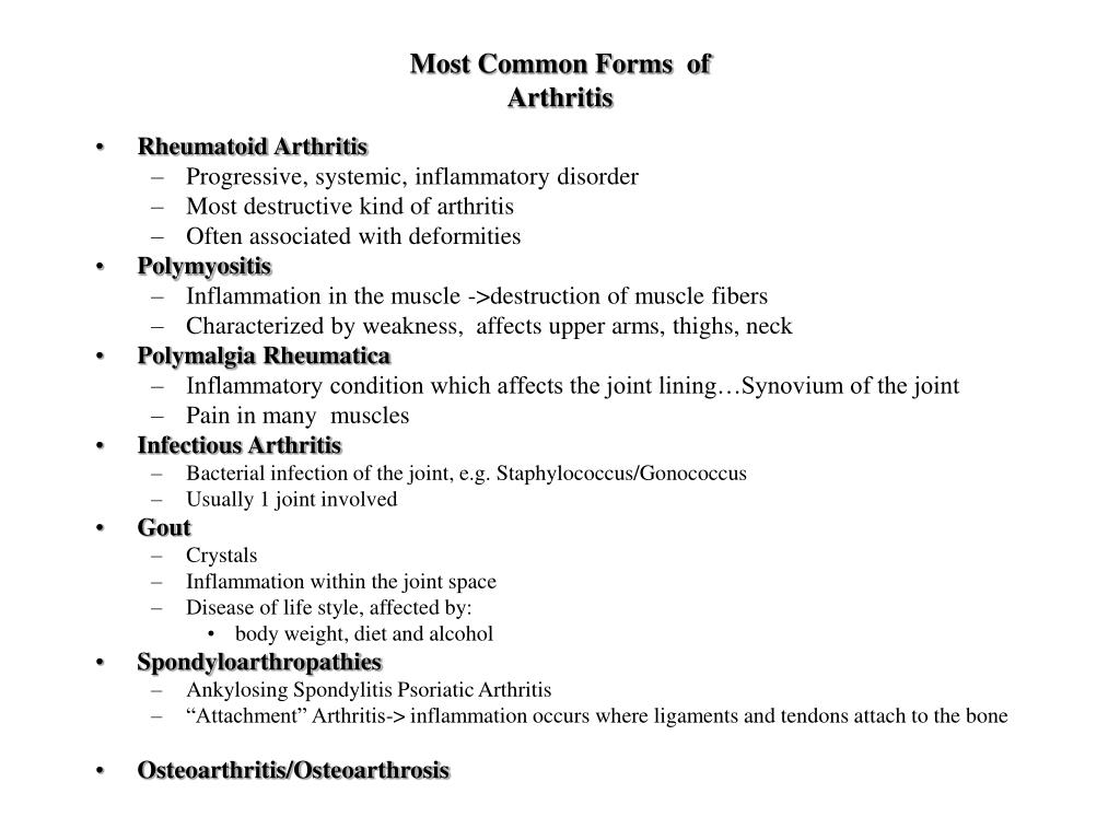 Most Common Forms  of