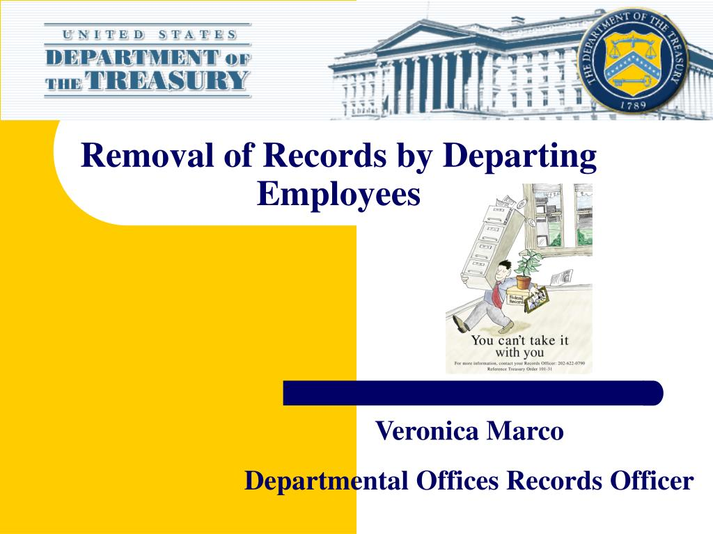 Removal of Records by Departing Employees