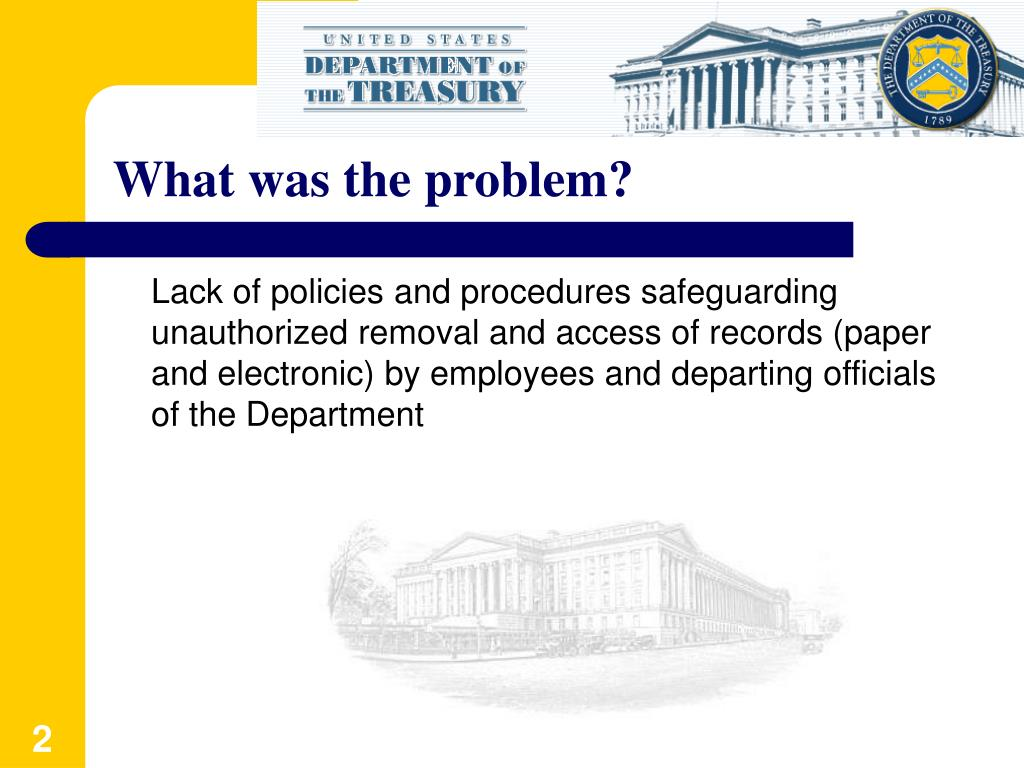 What was the problem?