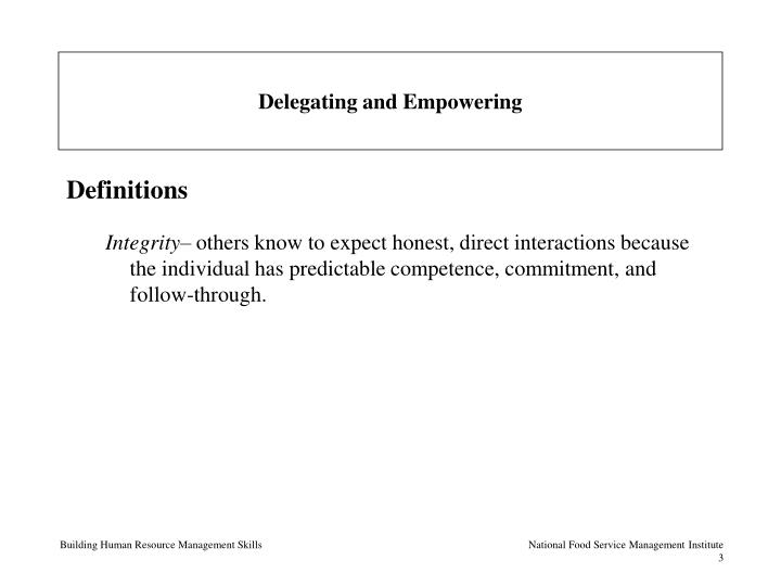 Delegating and empowering3