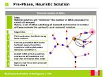 pre phase heuristic solution