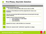 pre phase heuristic solution29