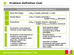 problem definition cost22