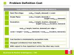 problem definition cost23