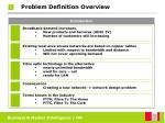 problem definition overview