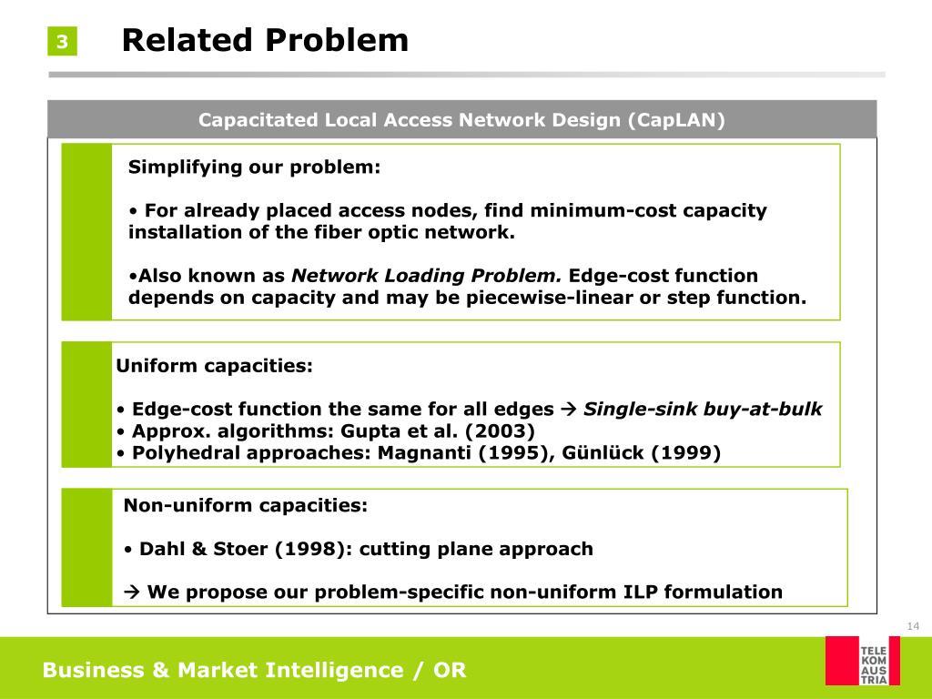 Capacitated Local Access Network Design (CapLAN)