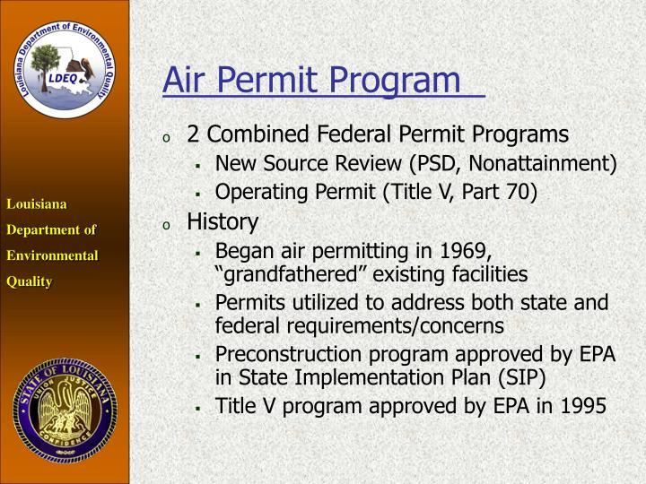 Air Permit Program