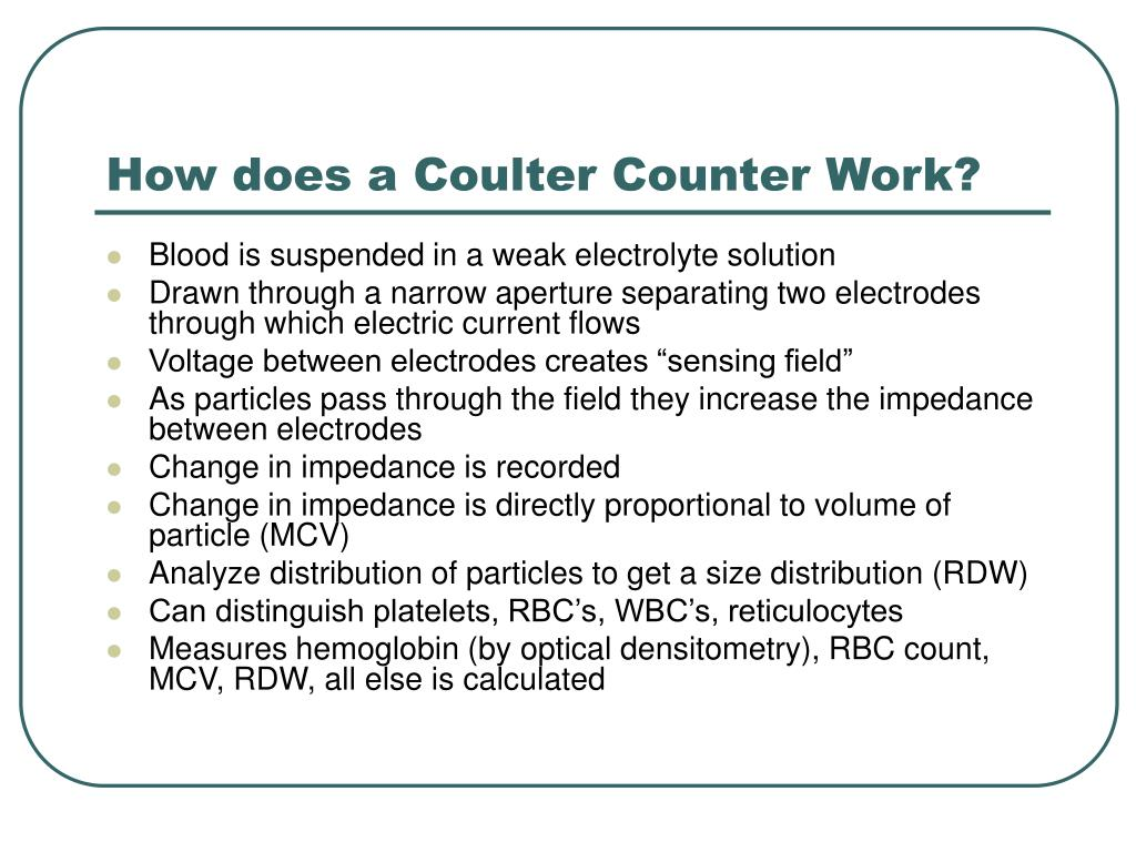 How does a Coulter Counter Work?