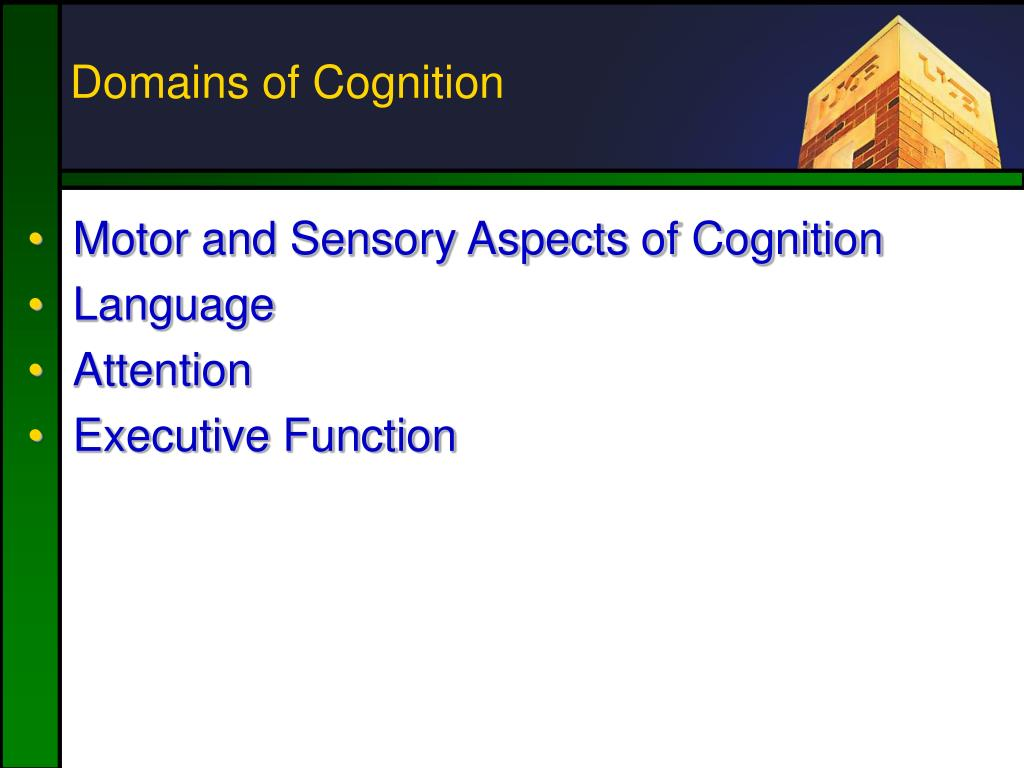 Domains of Cognition